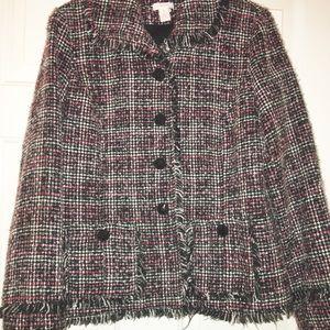 Chico's Jackets & Coats - Chicos vicky rainbow colorful blazer size 1